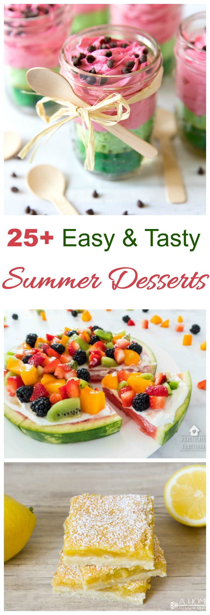 25 different easy and tasty summer time desserts