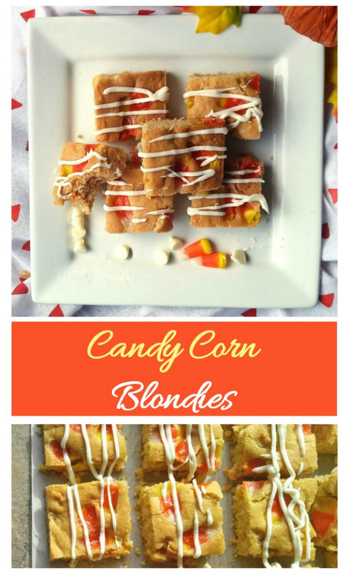 These candy corn blondies are a tasty way to incorporate this favorite candy into your Halloween baking.