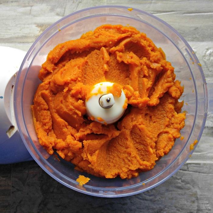 pumpkin puree in a food processor