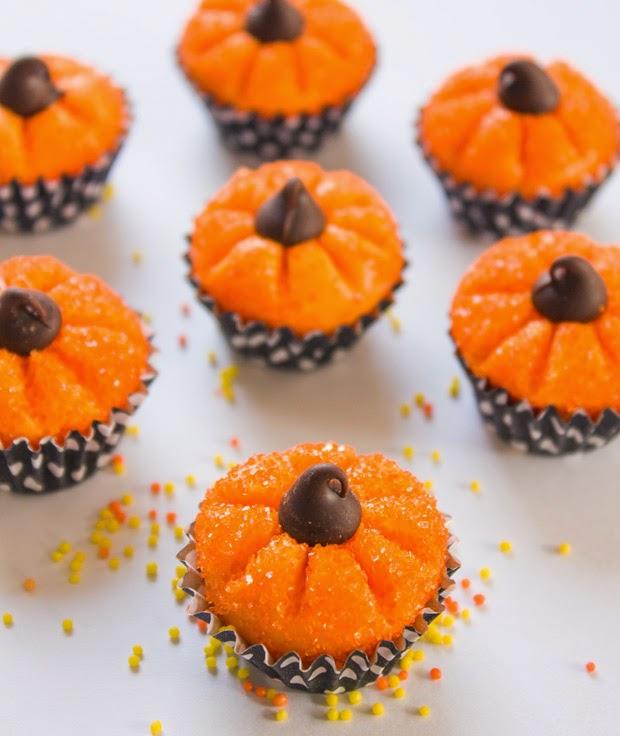 Pumpkin shaped truffles