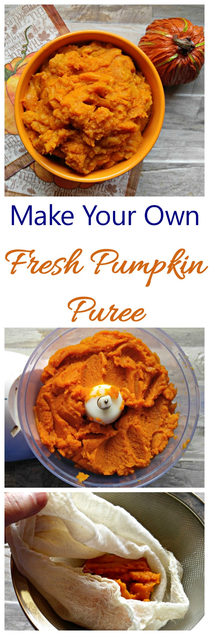 Fresh pumpkin puree is easy to make and perfect for all your fall recipes. #pumpkintime #pumpkinrecipes