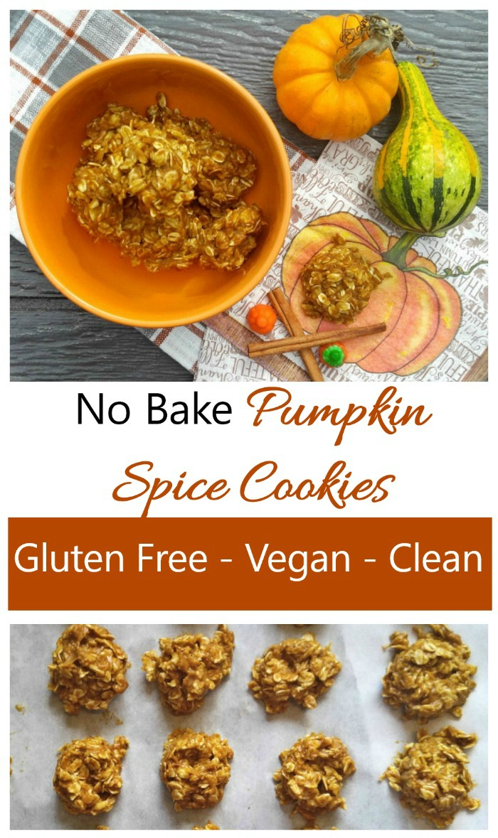 These no bake pumpkin spice cookies are gluten free