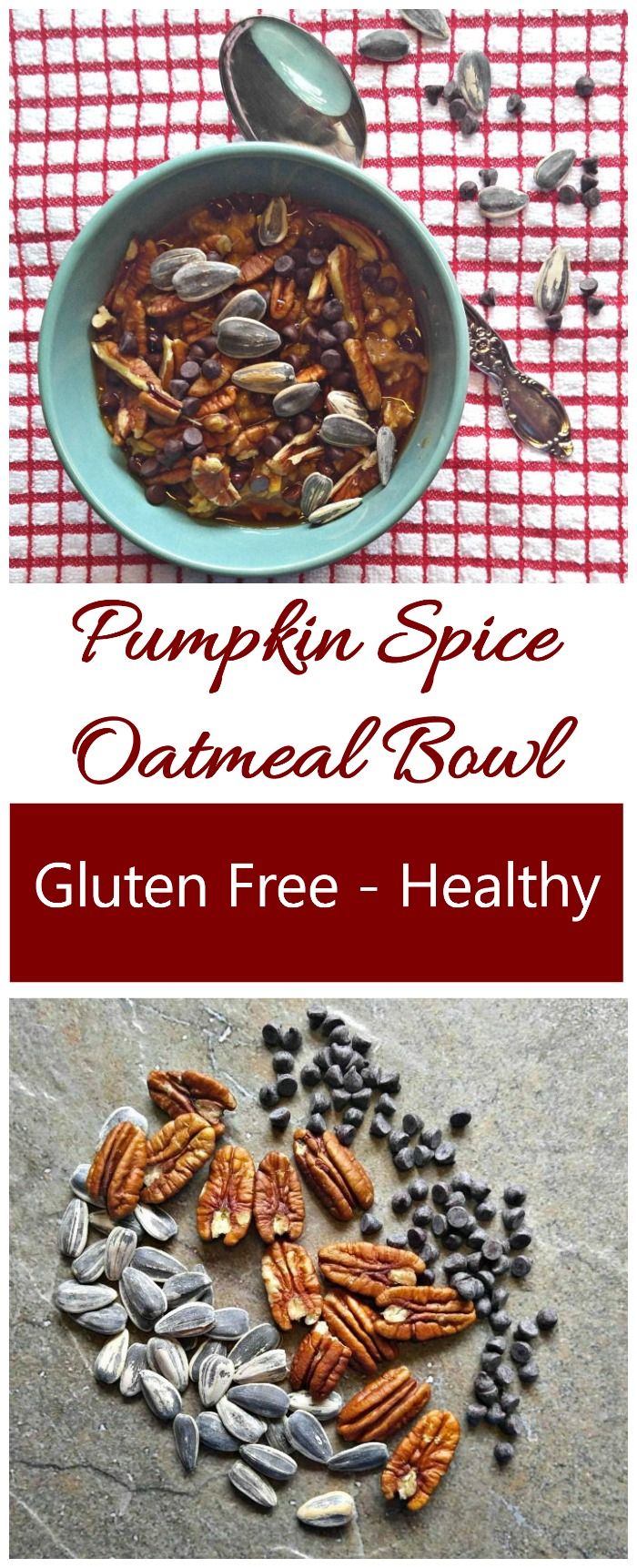 This pumpkin spice oatmeal bowl is ready in 10 minutes and is full of the flavors of fall. #pumpkinspiec #oatmealrecipes