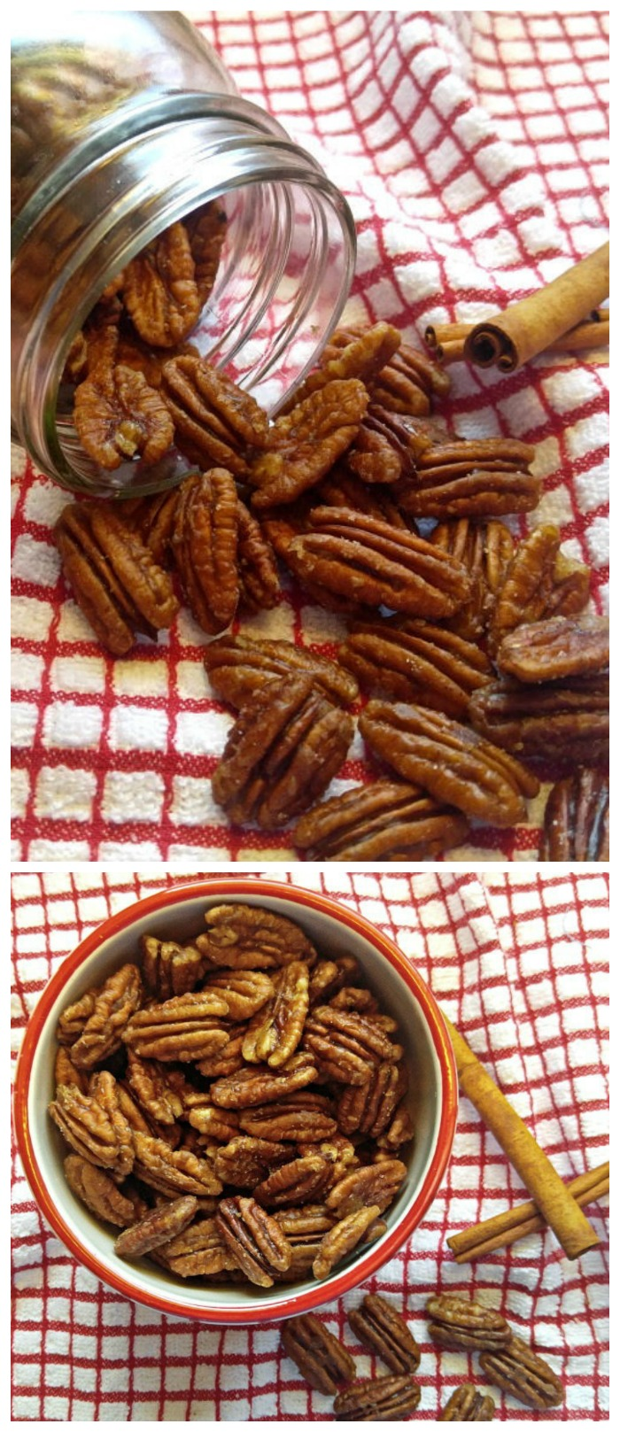 These maple cinnamon toasted pecans are easy to make and taste amazing. They are vegan, gluten free ,Paleo and dairy free, too! #toastedpecans #pecanrecipes