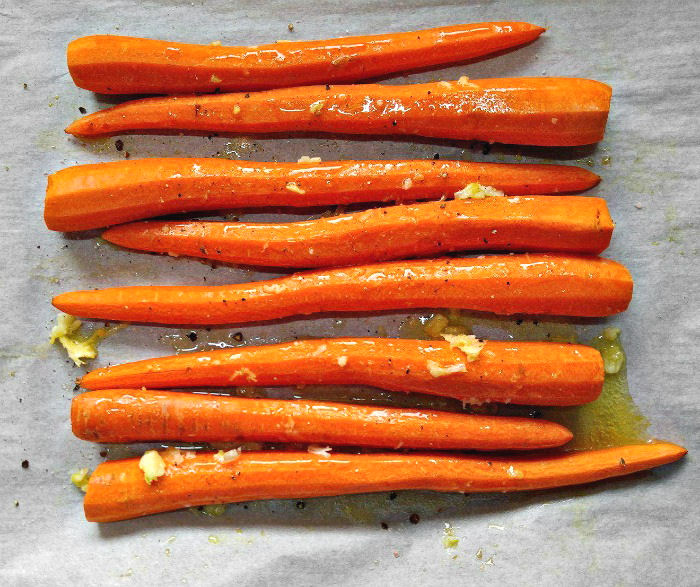 carrots with garlic butter and seasonings