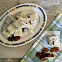 Cranberry pecan fudge