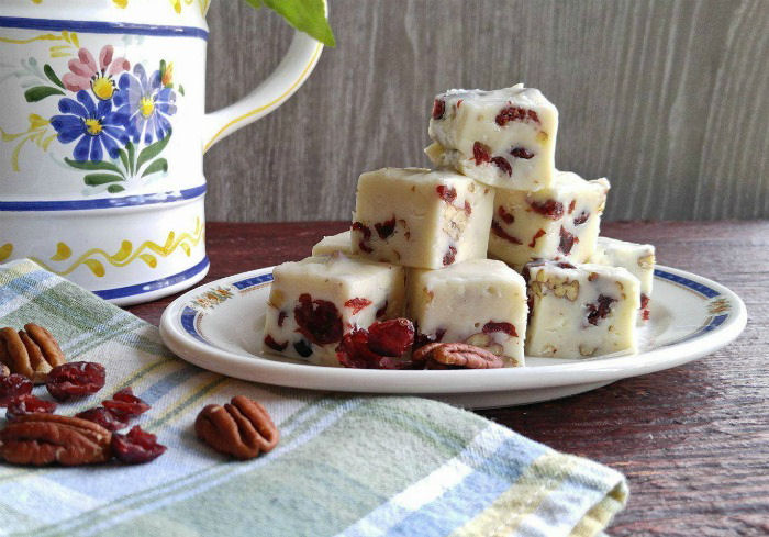 This pecan fudge is perfect for gift giving.
