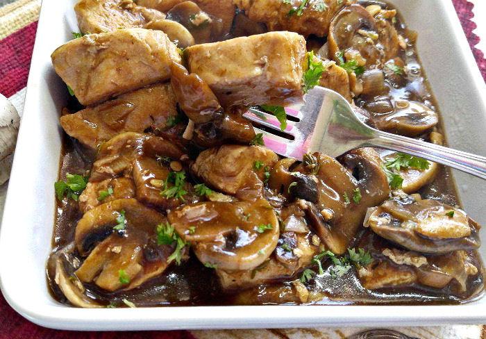 Tasting the balsamic chicken and mushrooms recipe