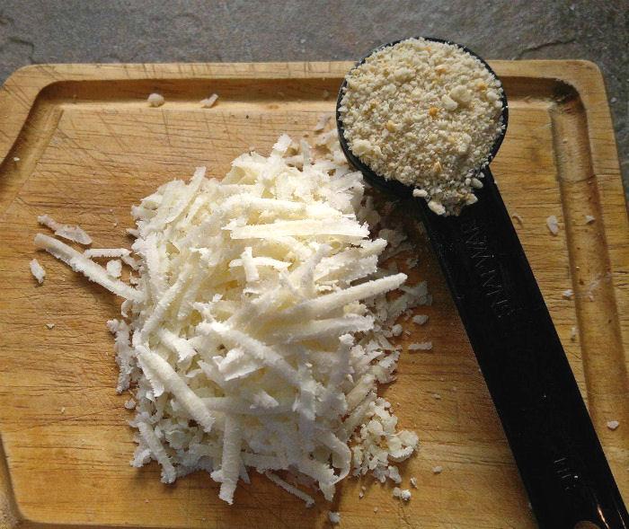 Parmesan cheese and Panko