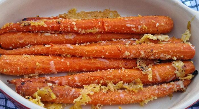 These parmesan garlic carrots have an amazing flavor and texture