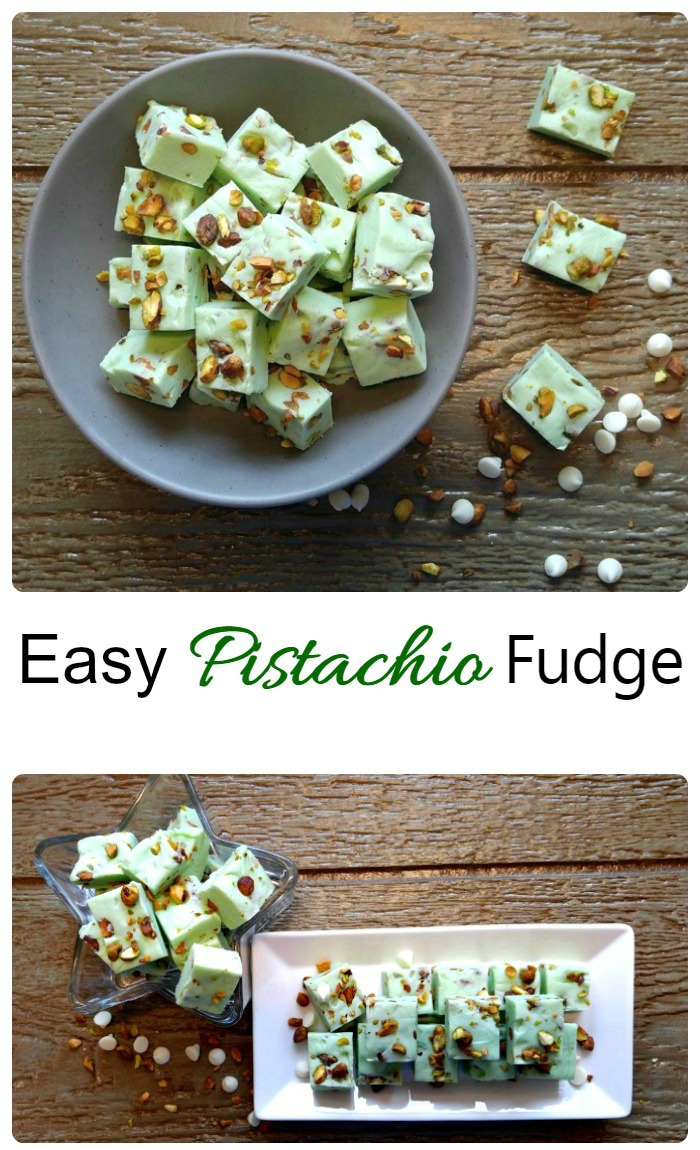Easy pistachio fudge makes a great addition to any holiday dessert table