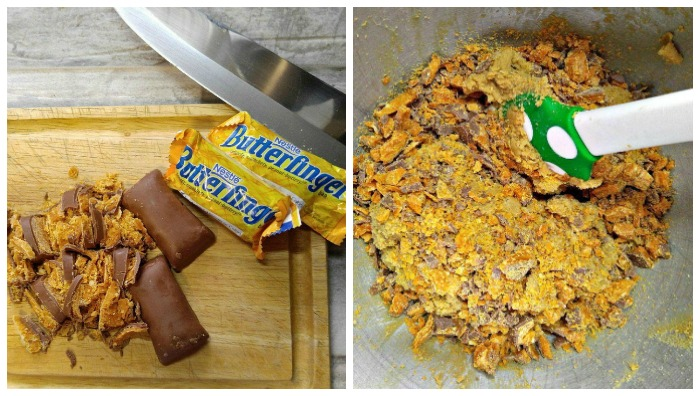 Adding Butterfingers to batter