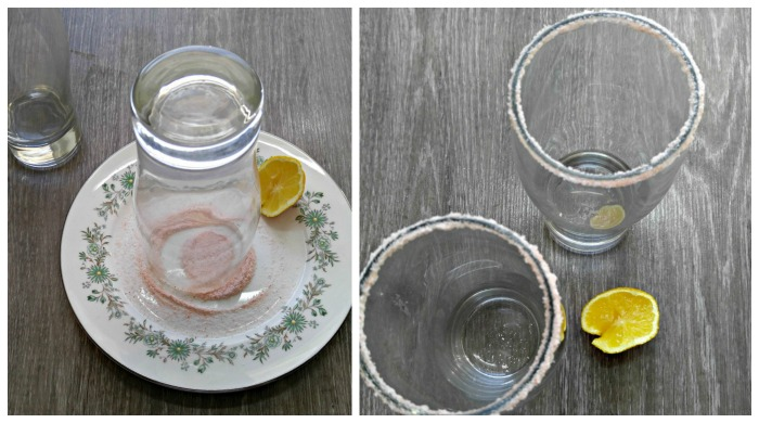 Salting a glass rim