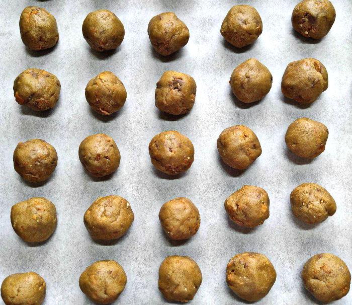 truffle balls before coating