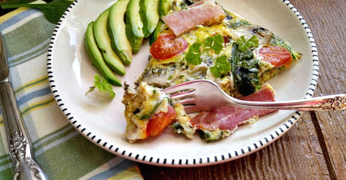 Tasting this Whole30 frittata recipe