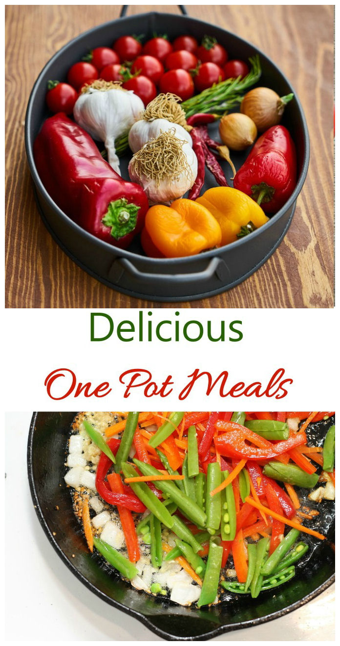 These delicious one pot meals are full of flavor and easy to prepare. Clean up is a breeze, as well. #onepotmeals #onepotcooking