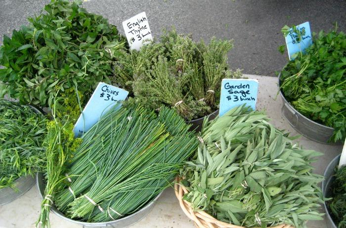 fresh herb bundles