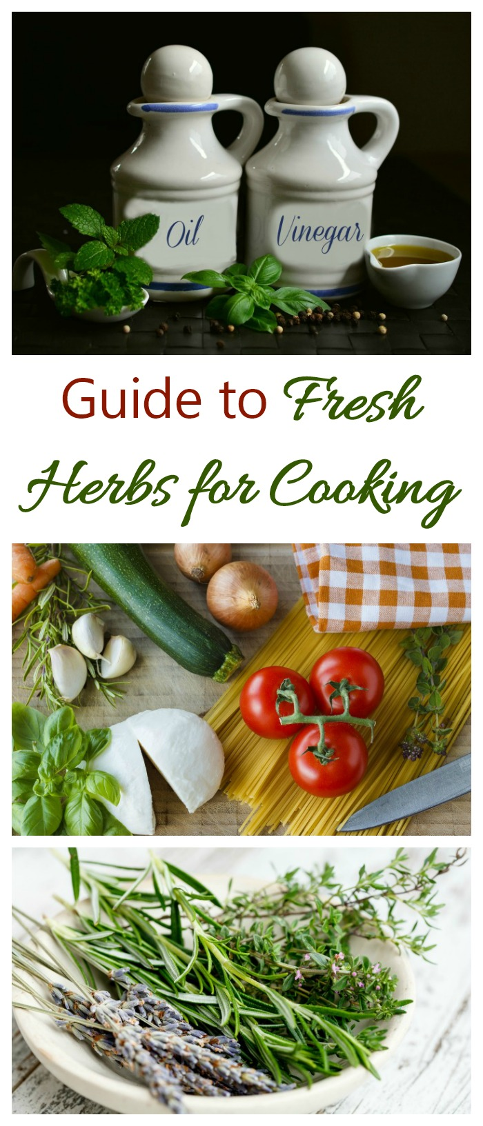 This Guide to Fresh Herbs gives buying, storing and fresh herb information as well as tips for using fresh herbs for cooking. #freshherbs #cookingwithherrbs #freshherbs