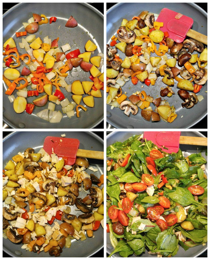 Making Whole30 turkey hash