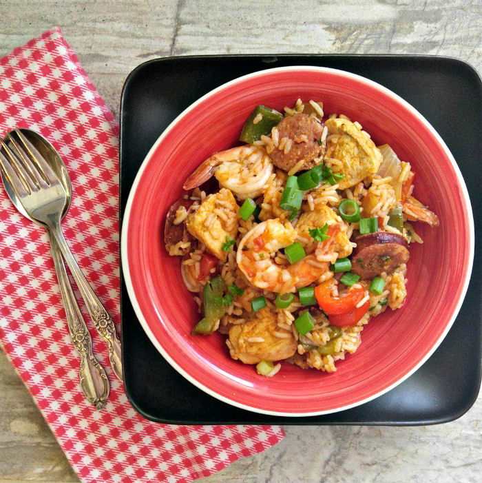 Gluten free chicken One pot jambalaya