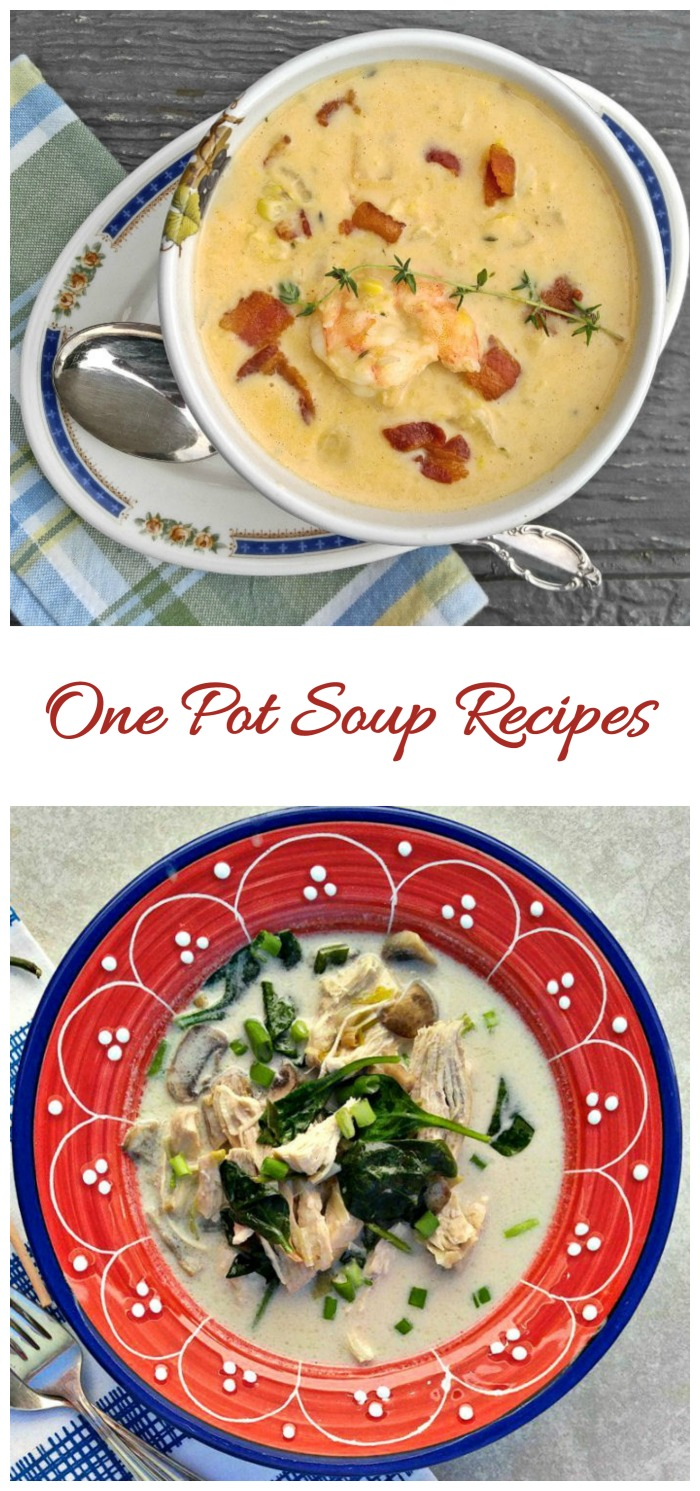 Delicious Soup Recipes all made in one pot. Clean up is easy with one pot meals