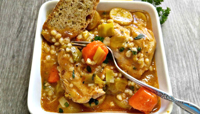 Tasting this hearty winter vegetable stew