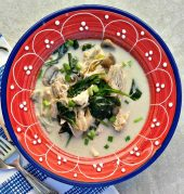 Bowl of Thai Chicken Coconut Soup