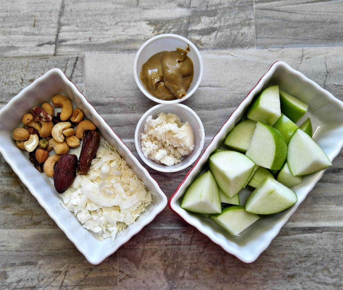 Ingredients for Whole30 Apple Coconut Breakfast bowl