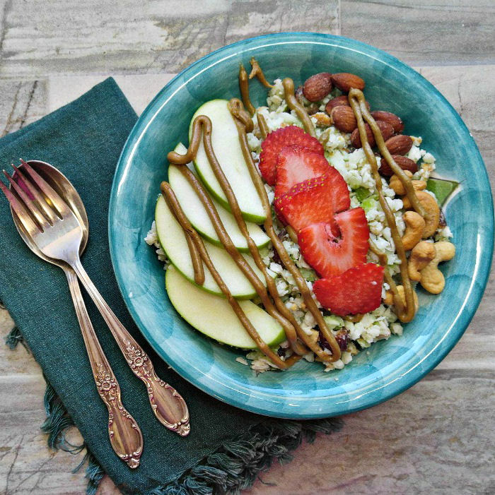 Paleo and Gluten free apple coconut breakfast bowl