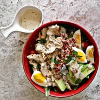 California Cobb Salad and home made ranch dressing