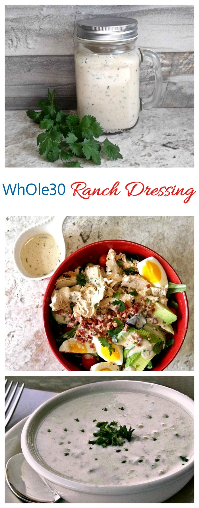 Whole30 Ranch Dressing - (Gluten - Free Paleo) Fresh Herbs, Creamy