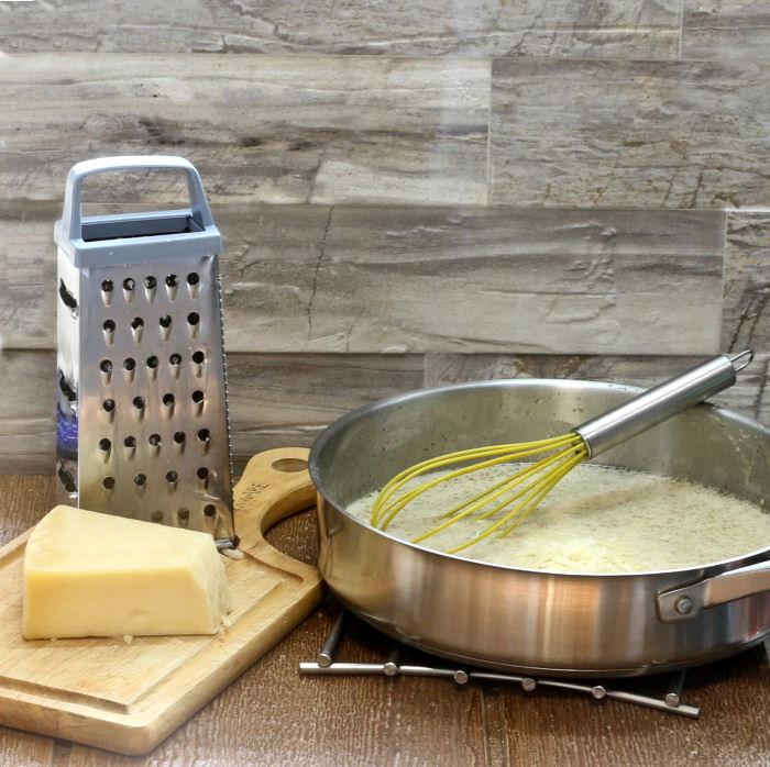 Adding Fresh Parmesan cheese