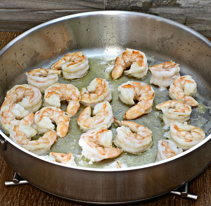 Cooking shrimp in oil