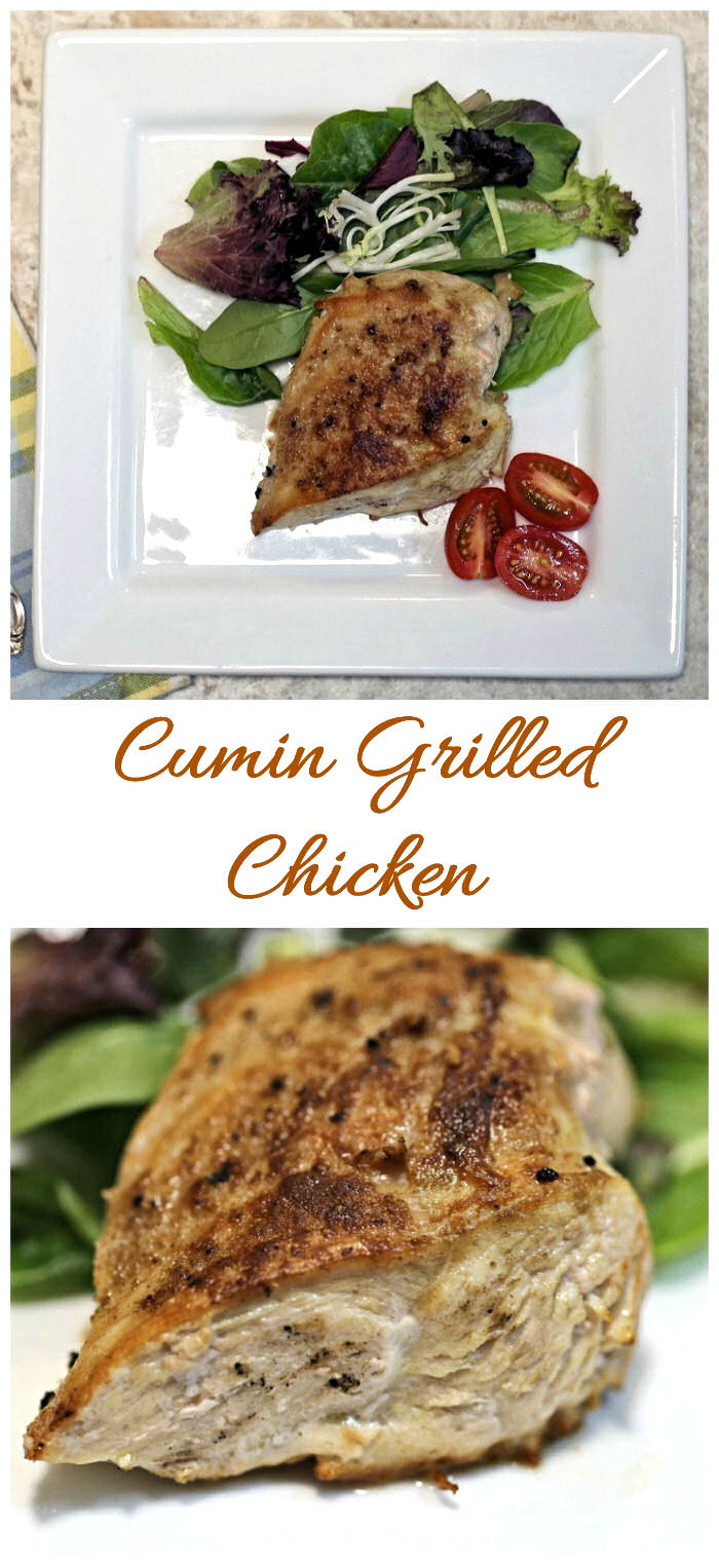 These cumin grilled chicken breasts are