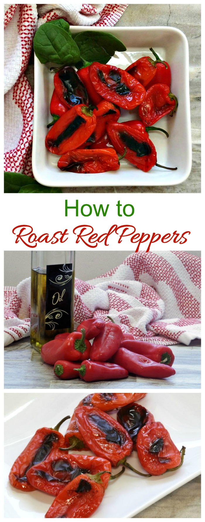 How to roast red peppers in the oven. It's e lot easier than you might think!