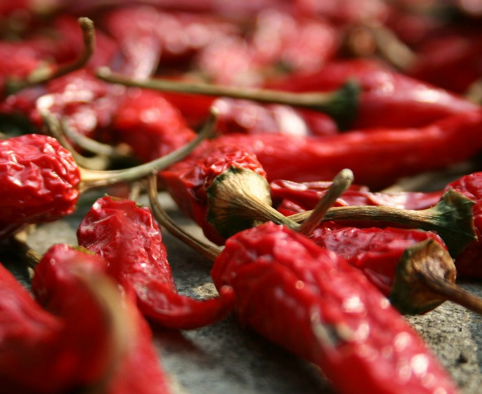 Rosated chili peppers