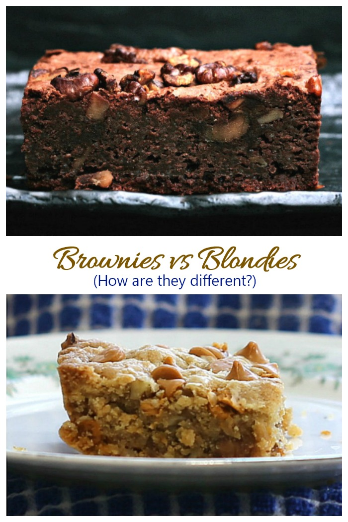 The difference between brownies and blondies. It's not just about the color.