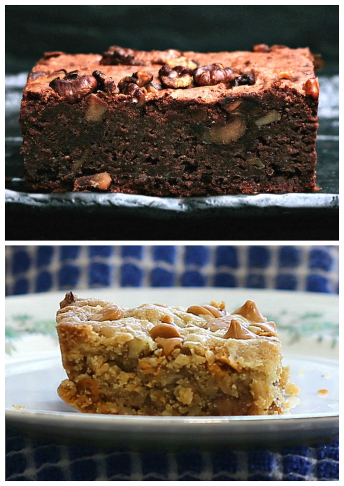 The texture of a blondie is very much like that of a brownie.
