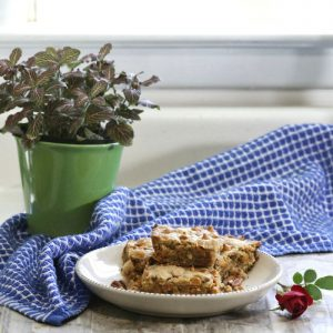 Butterscotch blondie squares