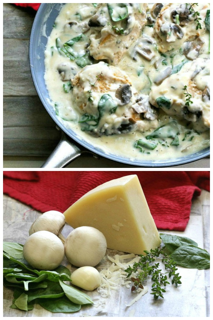 This creamy Parmesan garlic mushroom chicken is tender and rich with a delicious garlic cream sauce. It's ready in less than 30 minutes and tastes amazing.