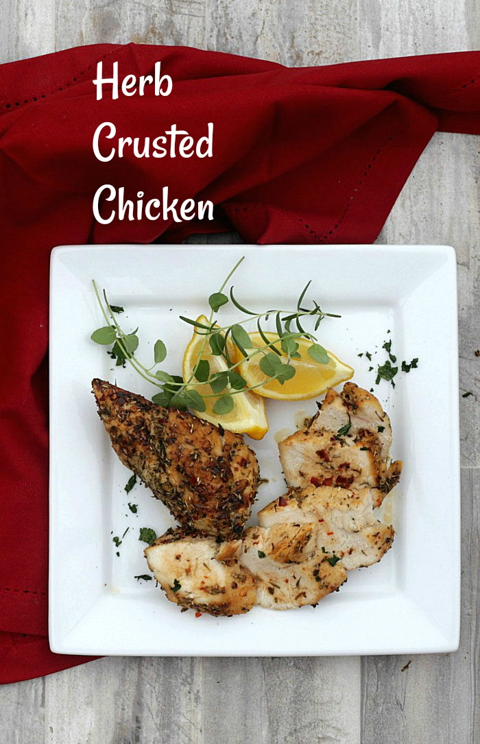 Herb crusted baked chicken