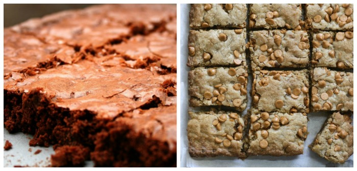 Brownies and blondies have a few differences. The color is one of them.