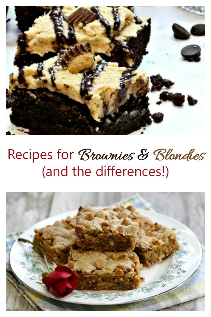 Recipes for brownies and blondies. Which do you prefer?
