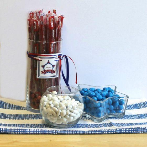 Patriotic candy jars