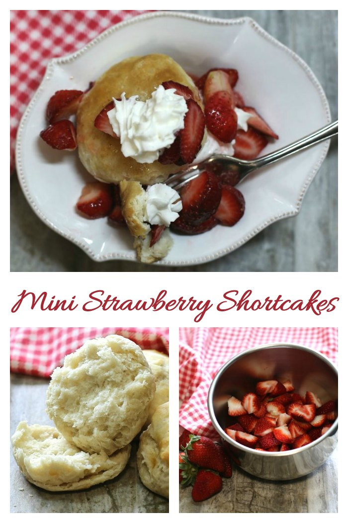 Making strawberry shortcakes with home made biscuits and a lovely no cook strawberry syrup