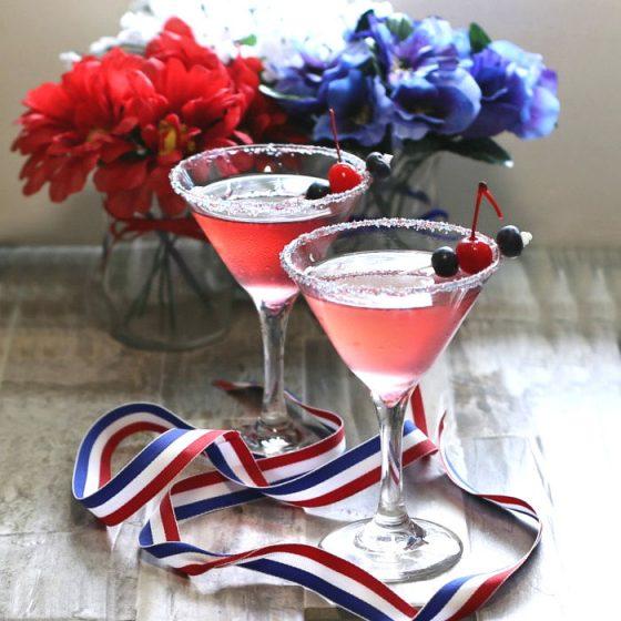 Patriotic 4th of July Cosmopolitans