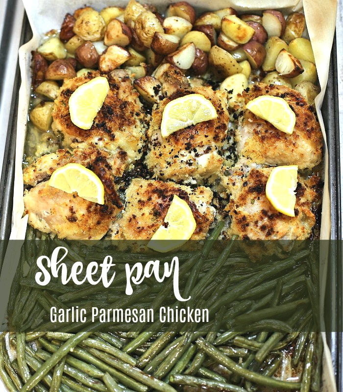Sheet pan garlic parmesan chicken
