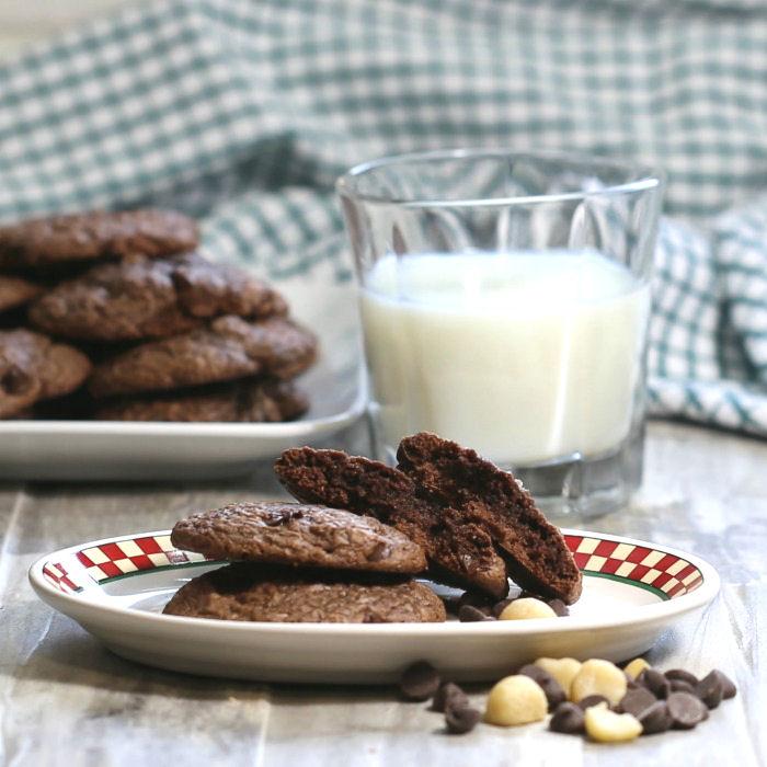 Brookies and milk