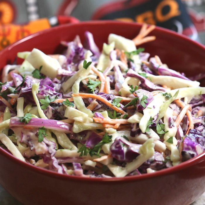 This Southern Coleslaw makes a wonderful barbecue side dish
