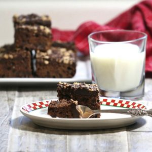 Tasting heath bar brownies